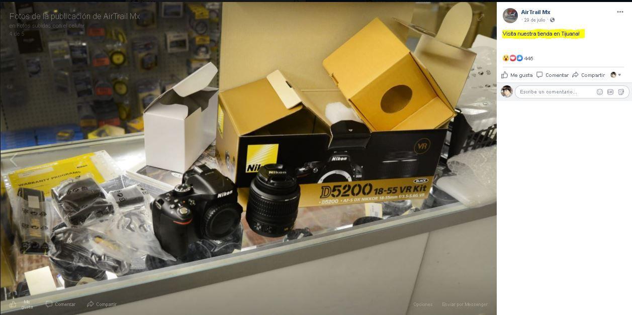 Air Trail Mx fraude Canon EOS M50