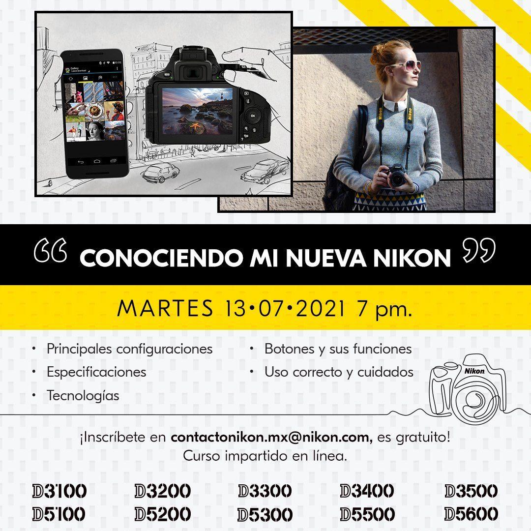 Cursos Nikon gratis julio mexico 2021 1